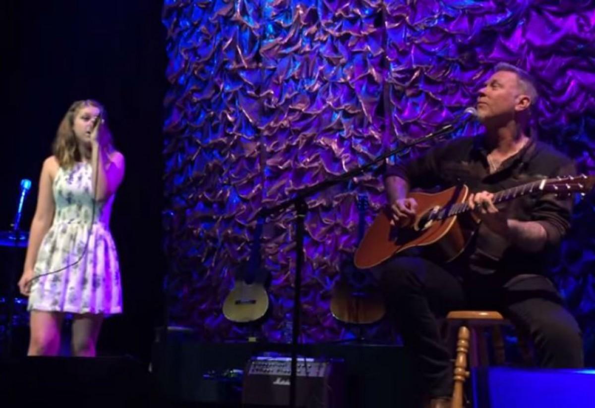 James Hetfield de Metallica y su hija tocaron un cover de Adele