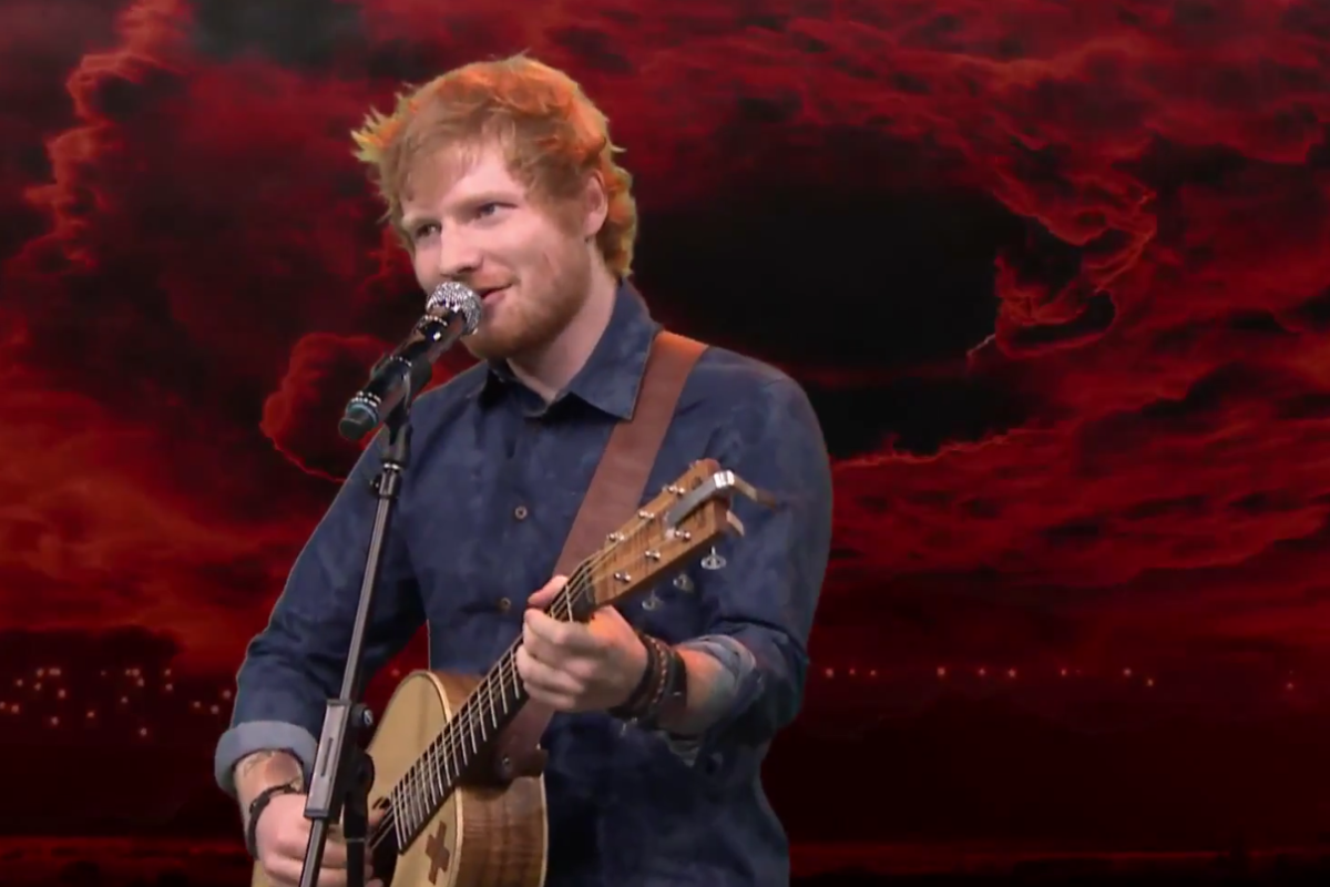 [Video] Mira a Ed Sheeran cantando temas de Iron Maiden y Limp Bizkit