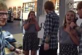 Ed Sheeran sorprendió a fan y cantó con ella