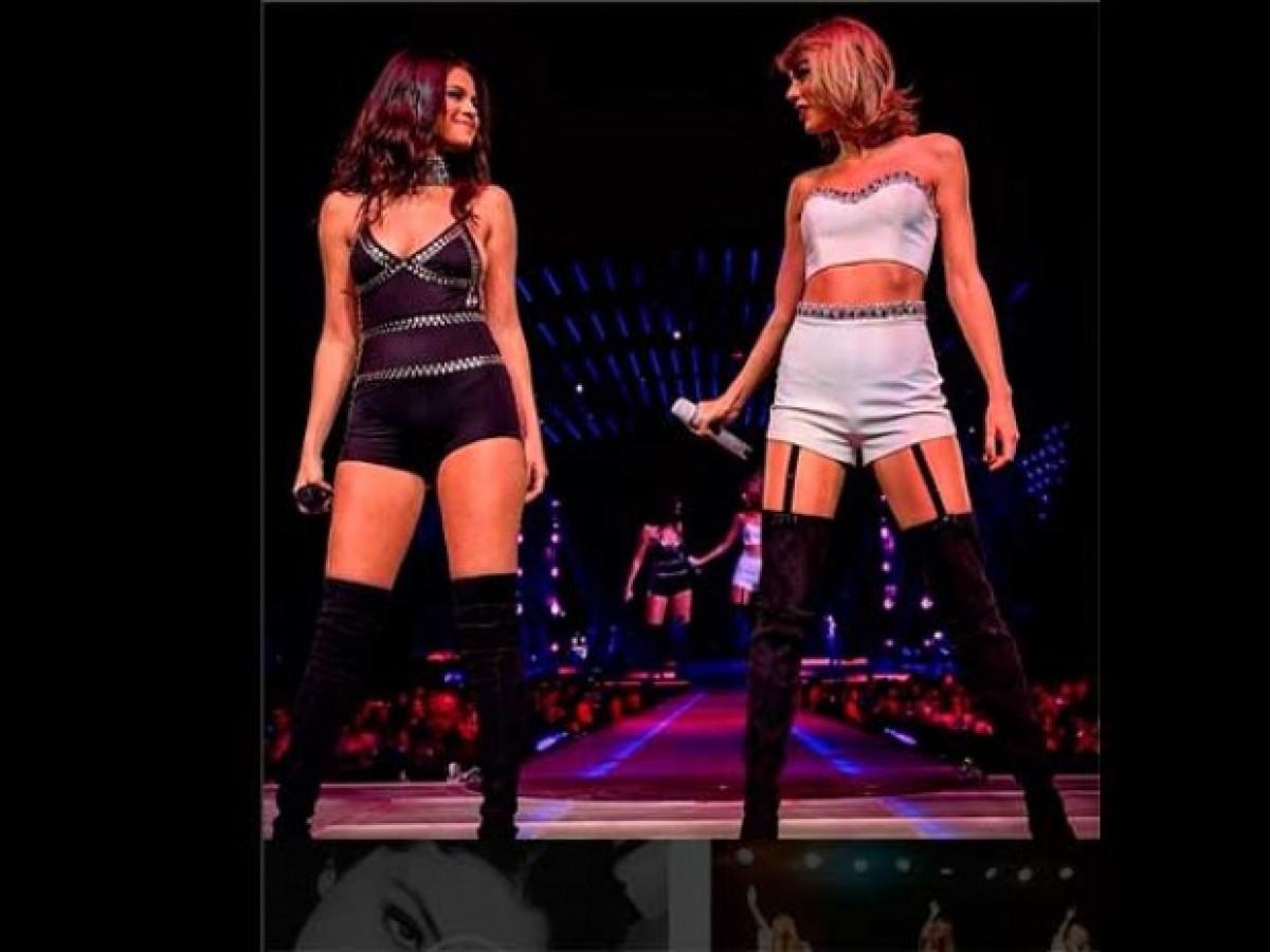 Selena Gómez y Taylor Swift juntas en concierto