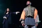 Kanye West y Rihanna en un gran show.