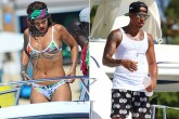 ¡Rihanna y Lewis Hamilton, muy juntitos!