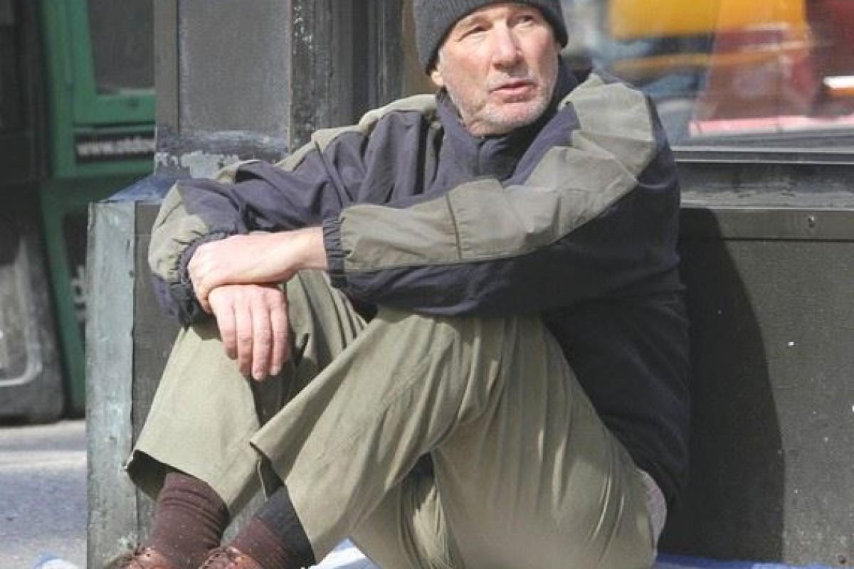 Richard Gere se hizo pasar por un indigente, nadie lo reconoció