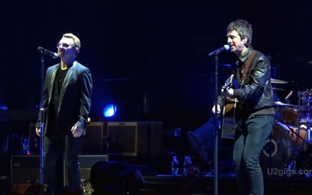 Noel Gallagher fue el invitado sorpresa en un concierto de U2