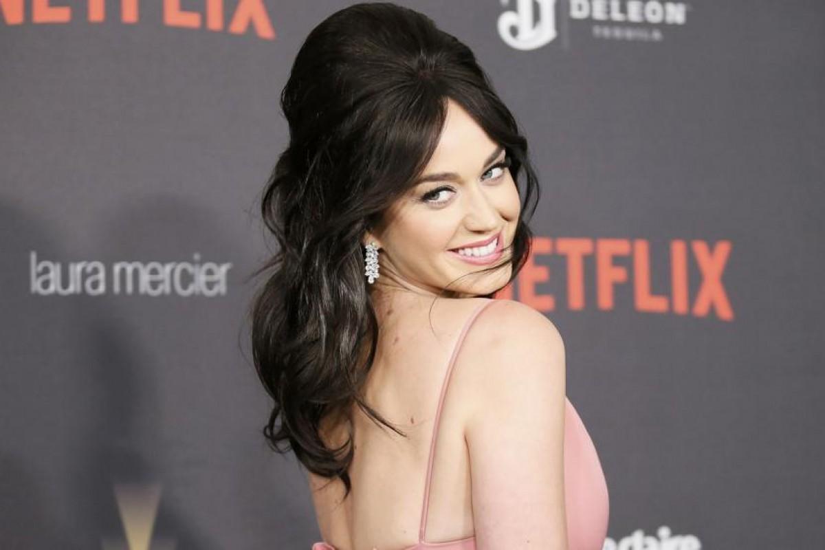 El peinado de Katy Perry en los Globos de Oro.