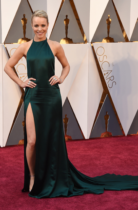 Rachel McAdams arrives at the Oscars on Sunday, Feb. 28, 2016, at the Dolby Theatre in Los Angeles. (Photo by Jordan Strauss/Invision/AP)
