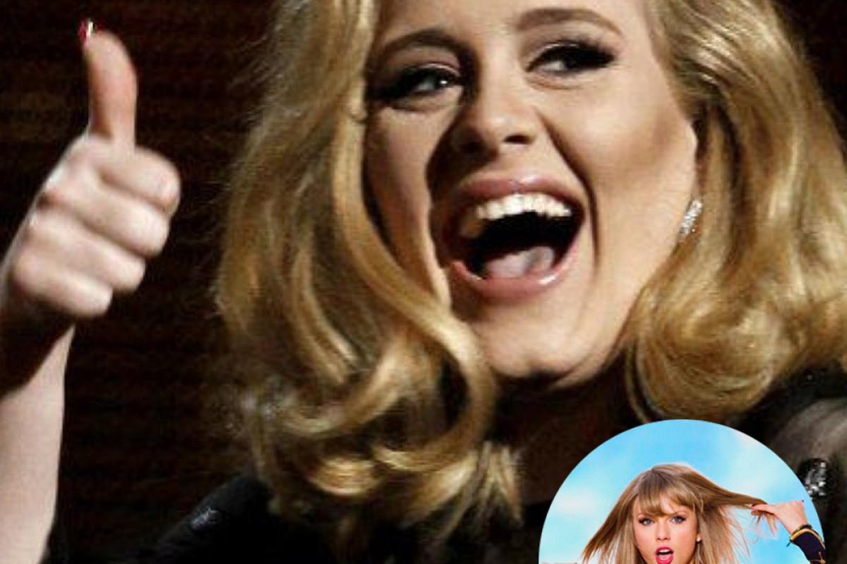 Adele está por encima de Taylor Swift