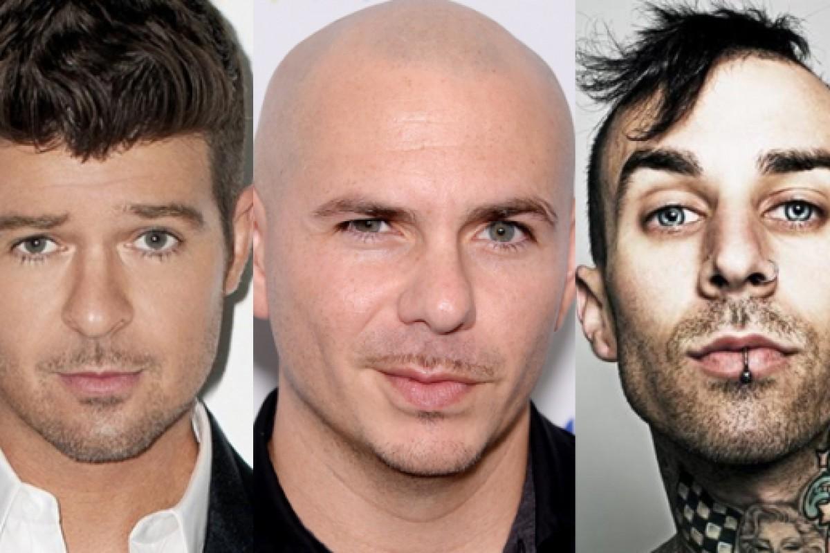 ¿Travis Barker se aleja de Blink 182? Se une a Robin Thicke y Pitbull