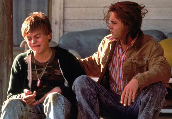 1993, Film Title: WHAT'S EATING GILBERT GRAPE?, Director: LASSE HALLSTROM, Pictured: JOHNNY DEPP, LEONARDO DiCAPRIO.