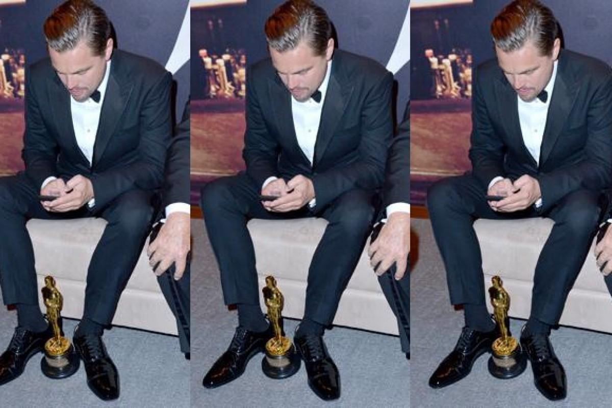 """Leo DiCaprio """"casi"""" olvida su Oscar en un restaurante"""