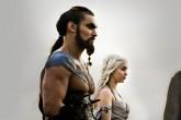 """Jason Momoa, orgulloso de su """"khaleesi""""."""