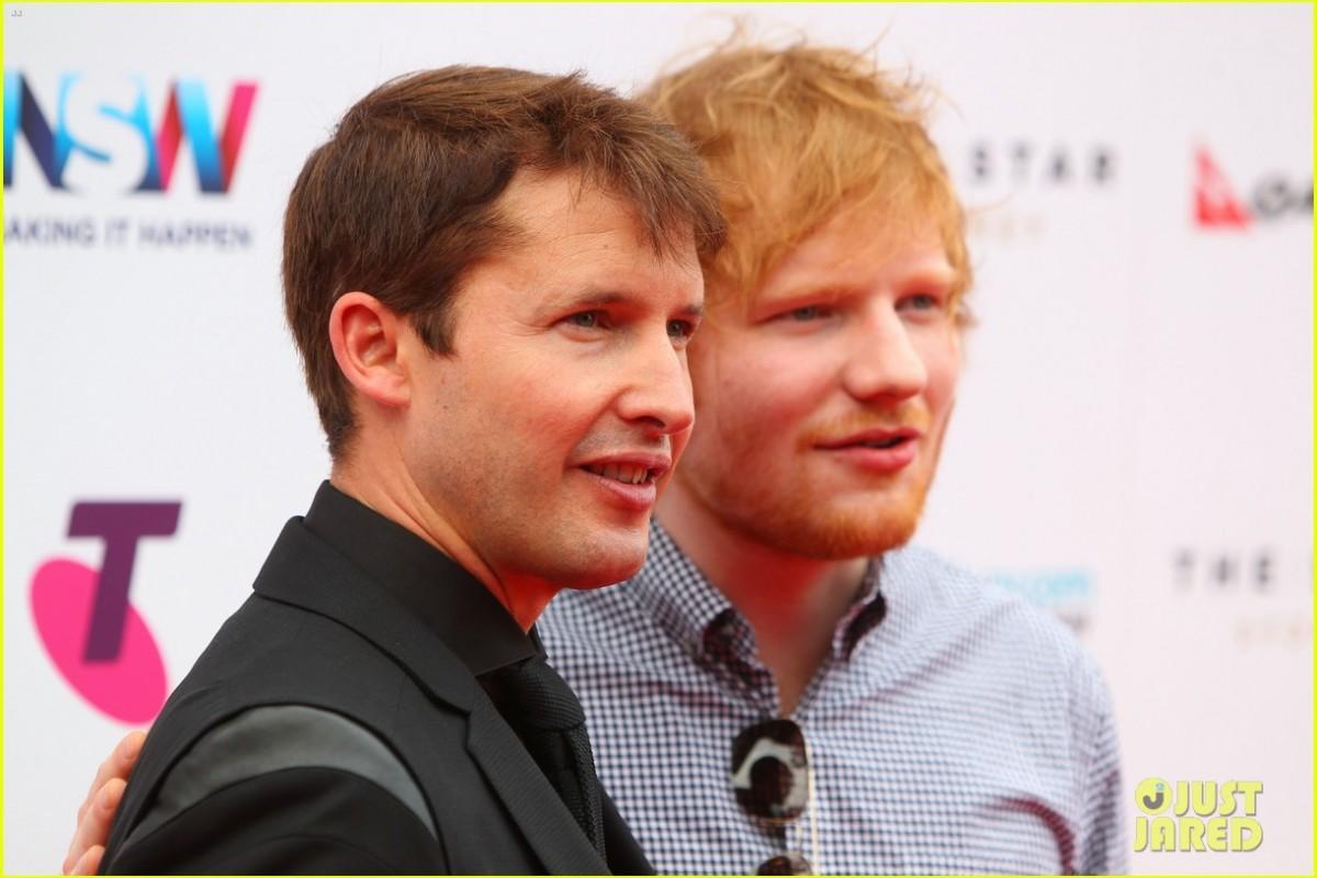 Ed Sheeran ayudando a James Blunt para su próximo álbum