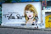 Una artista pintó un mural en memoria a la carrera de Taylor Swift