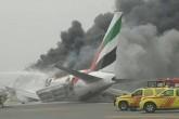 Aterrizaje de emergencia en Dubai terminó con avión en llamas