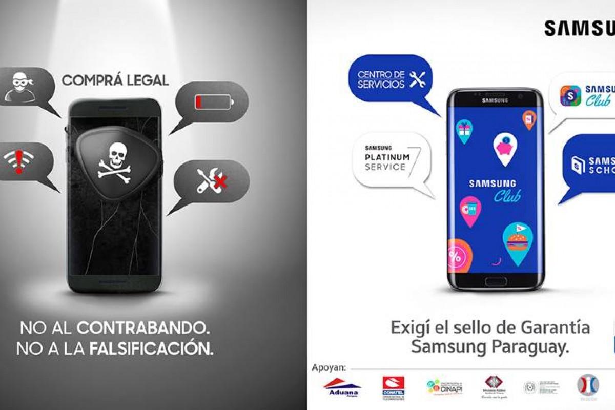 Samsung Paraguay encabeza campaña contra la falsificación y piratería