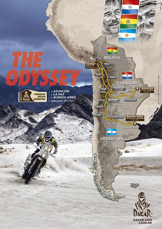 El recorrido oficial del Dakar 2017