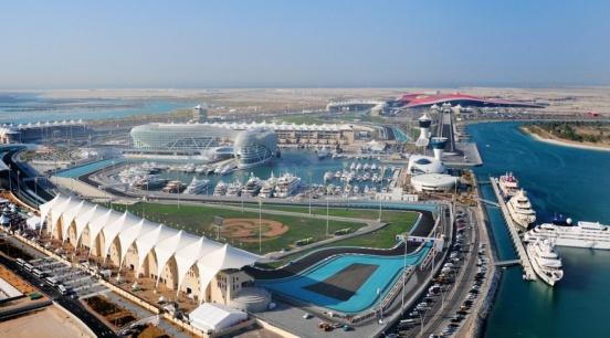 El circuito en Abu Dhabi