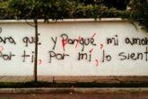 Acción Ortográfica: Un grupo de personas corrigiendo los errores en los graffitis de las calles.