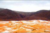 Nieve en el desierto del Sahara después de 37 años