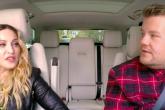 Madonna sube al auto con James Corden