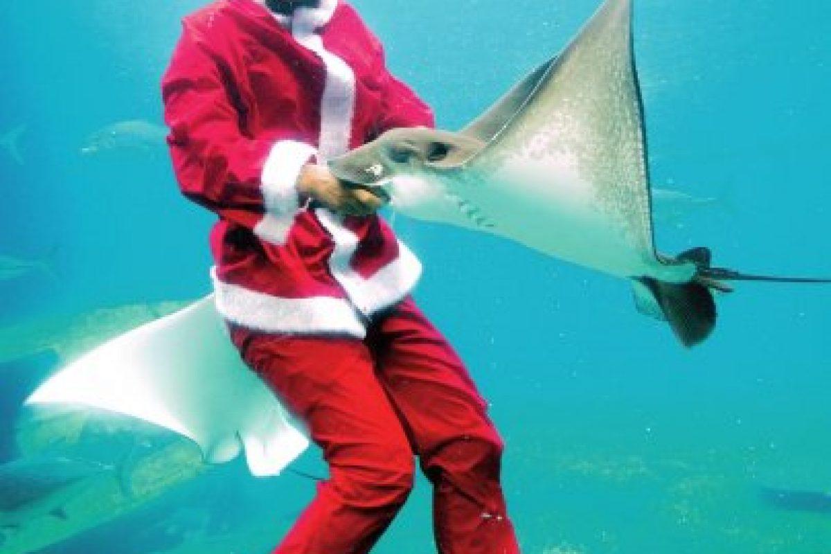 El largo recorrido de papá Noel