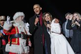 Barack Obama, Eva Longoria y Marc Anthony cantaron Jingle Bells en la Casa Blanca