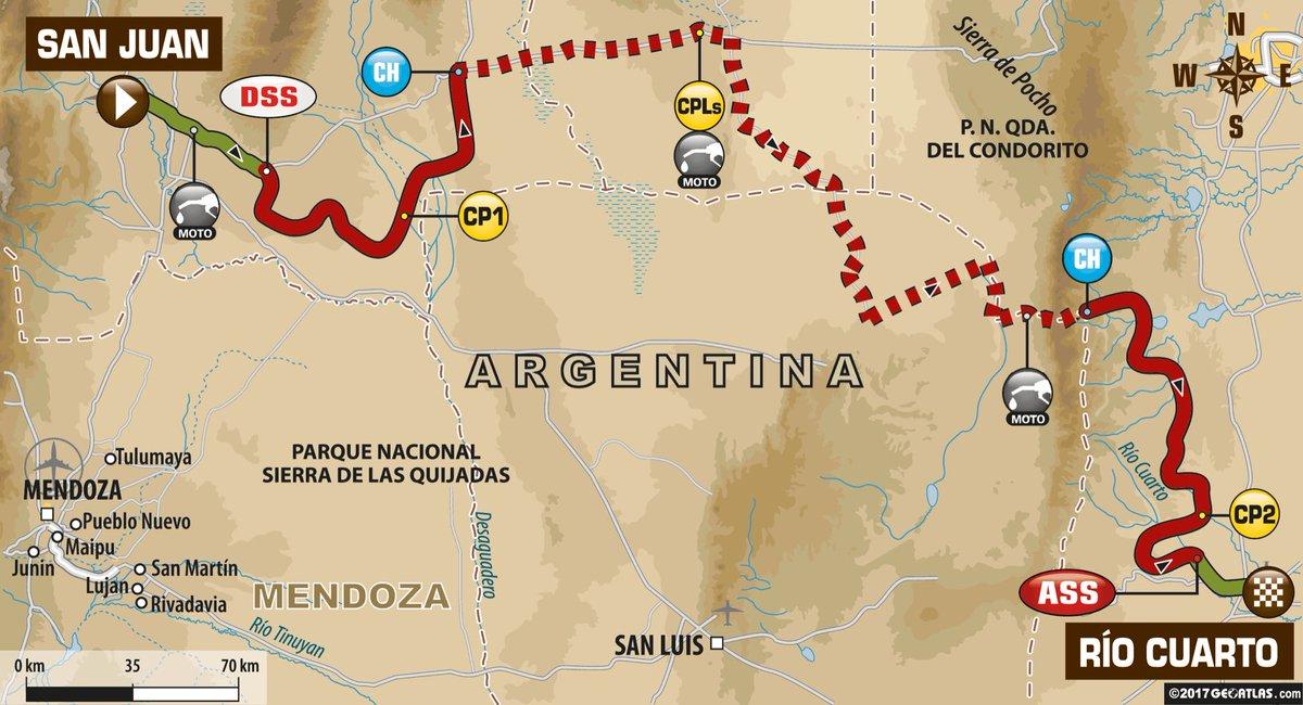 Ya se esta corriendo la etapa 11 del Dakar.