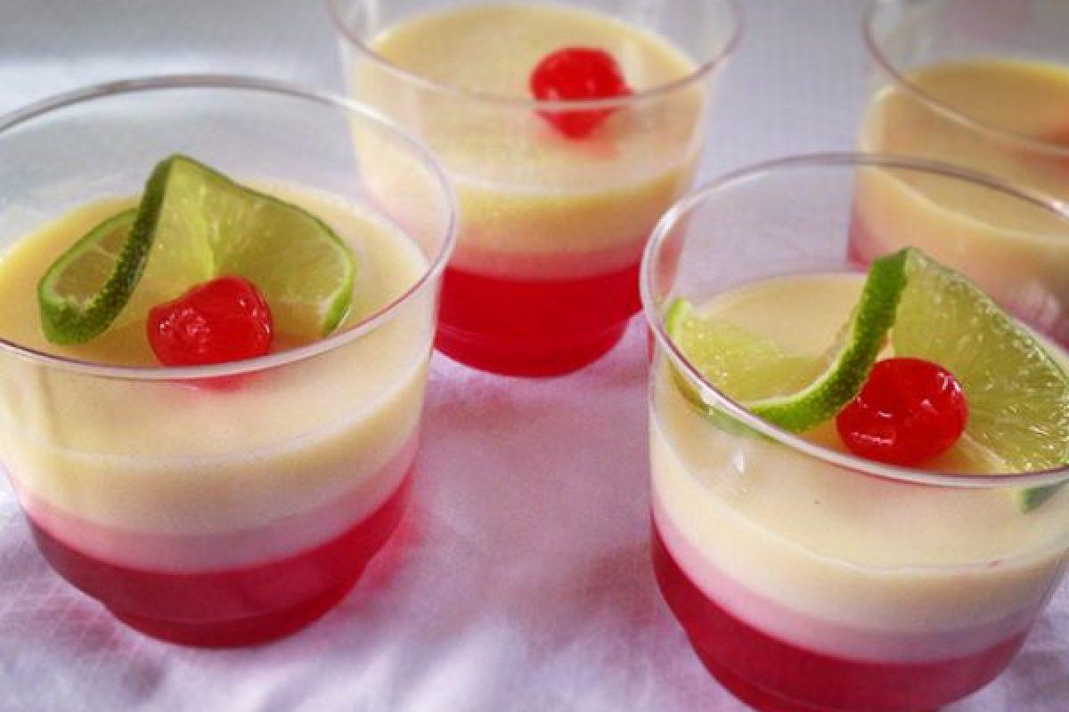 Postre de yogurt y gelatina