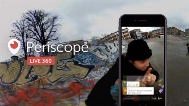 Twitter 360 con Periscope.