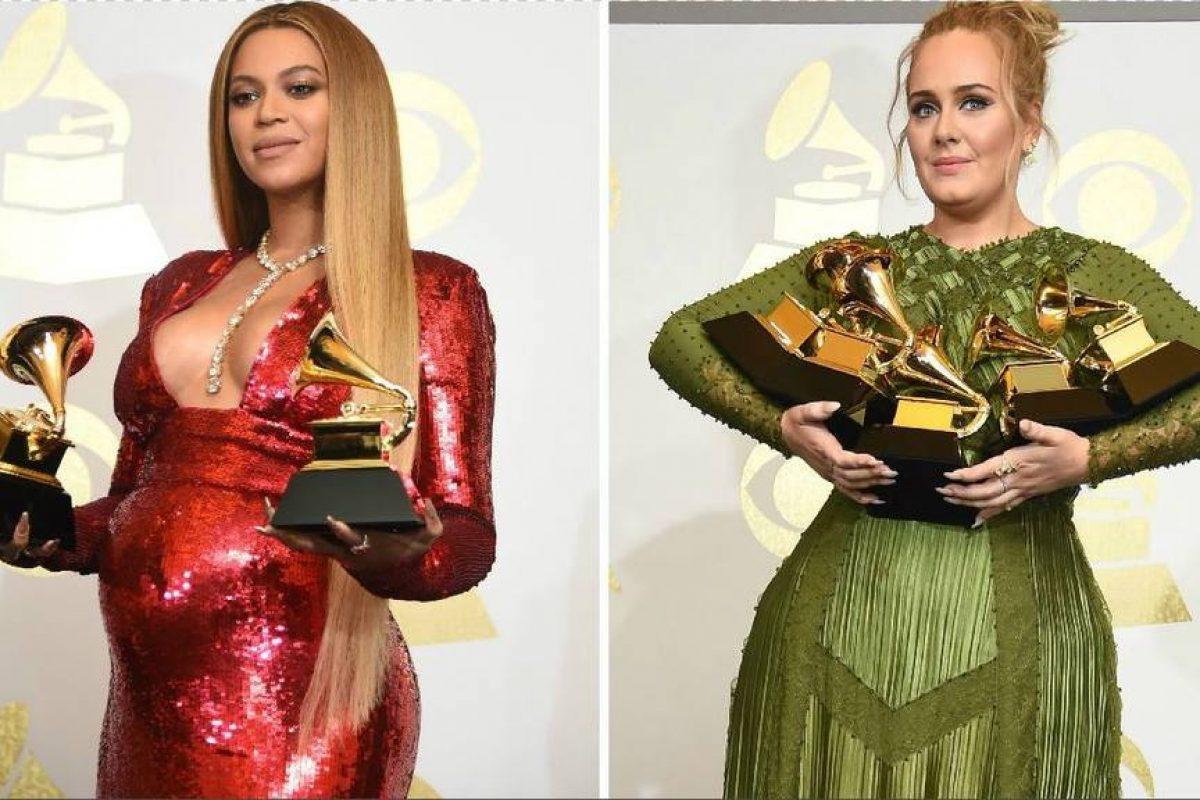 Adele partió un Grammy para compartirlo con Beyoncé