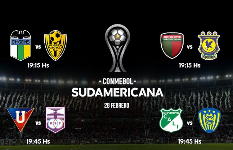 Copa Sudamericana programacion martes 28