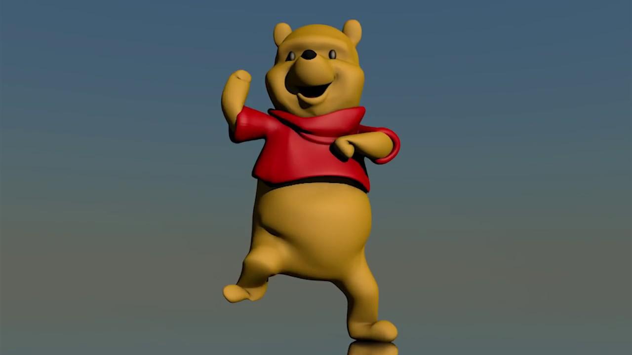 winnie pooh bailando es lo único que debes ver hoy en