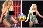 A Britney Spears se le escapa una en pleno concierto