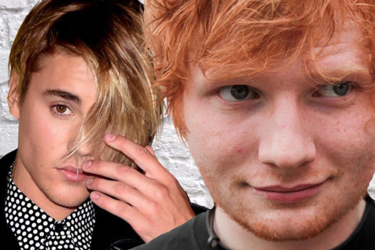 Ed Sheeran golpeó a Justin Bieber con un palo de golf