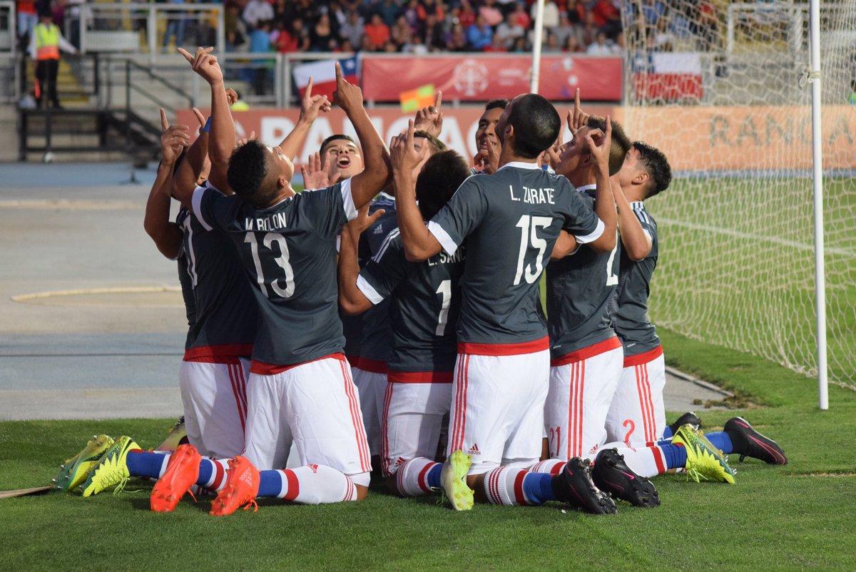 La Albirrojita festejando el triunfo ante Chile. Foto: APF