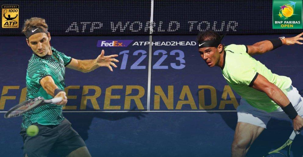Federer vs Nadal en el Masters 1000 de Indian Wells.