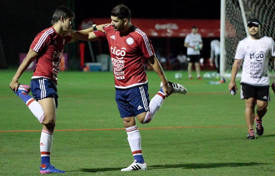 Néstor Ortigoza entrenando con la selección. Foto. Albirroja
