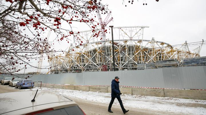 Trabajos de construcción del Estadio de Volgogrado. Foto: Kirill Braga / Sputnik