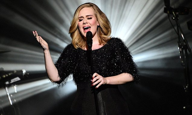 Mandatory Credit: Photo by GHNASSIA/SIPA/REX Shutterstock (5355608g) Adele NRJ Music Awards, Show, Cannes, France - 07 Nov 2015