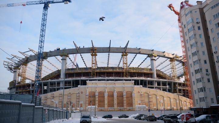 Trabajos de construcción del Estadio Tsentralni, en Yekaterimburgo.Foto: Pavel Licitsin / Sputnik