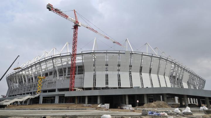 Arena Levberdon de Rostov del Don durante su construcción. Foto: Sergey Pivovarov / Sputnik