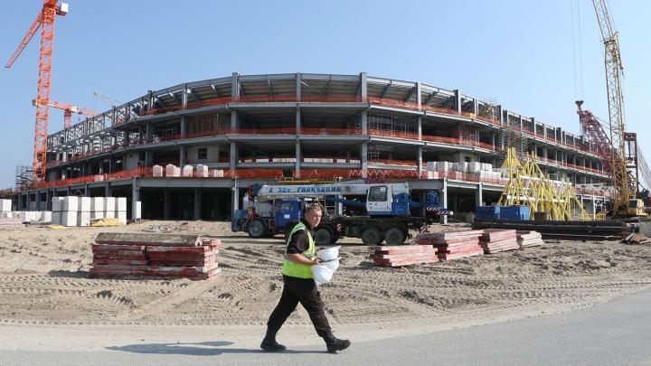 Trabajos de construcción del Arena Báltica, en Kaliningrado. Foto: Igor Zarembo / Sputnik