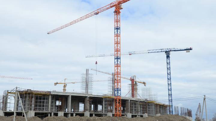 Estadio Volga de Nizhni Nóvgorod durante su construcción. Foto: Grigory Sokolov / Sputnik