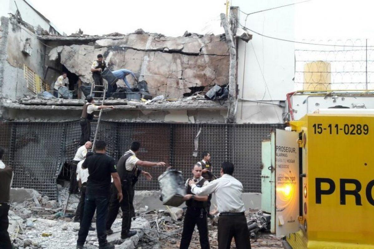 Solo escombros quedaron de la sede de Prosegur en CDE