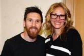 Julia Roberts conoce a Messi y a CR7