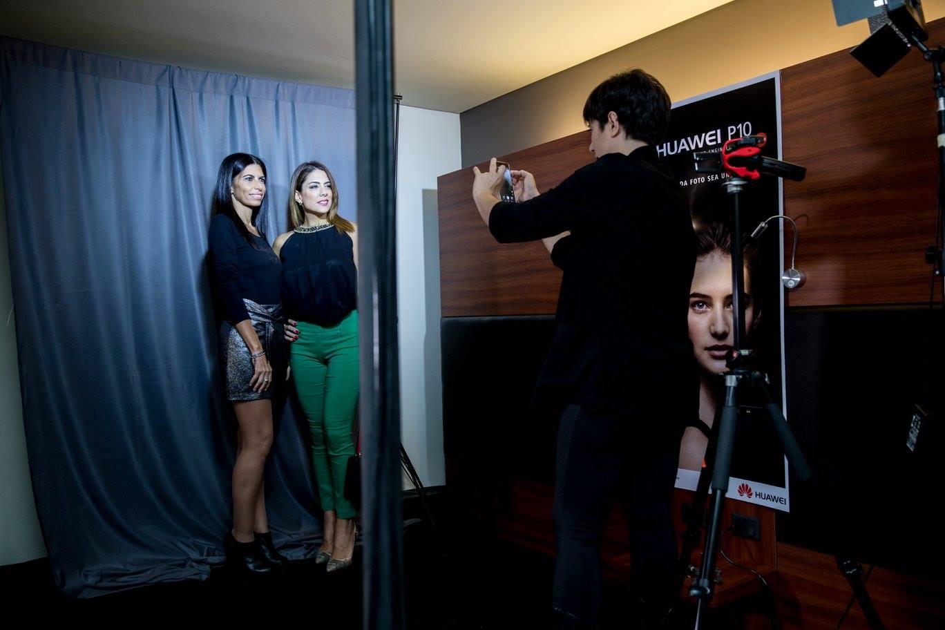 Estudio profesional de fotos Huawei. Fotos: Asunción Fashion Week.