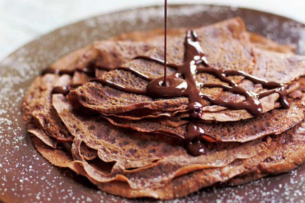 Crepes de chocolate light para el alma en tres sencillos pasos