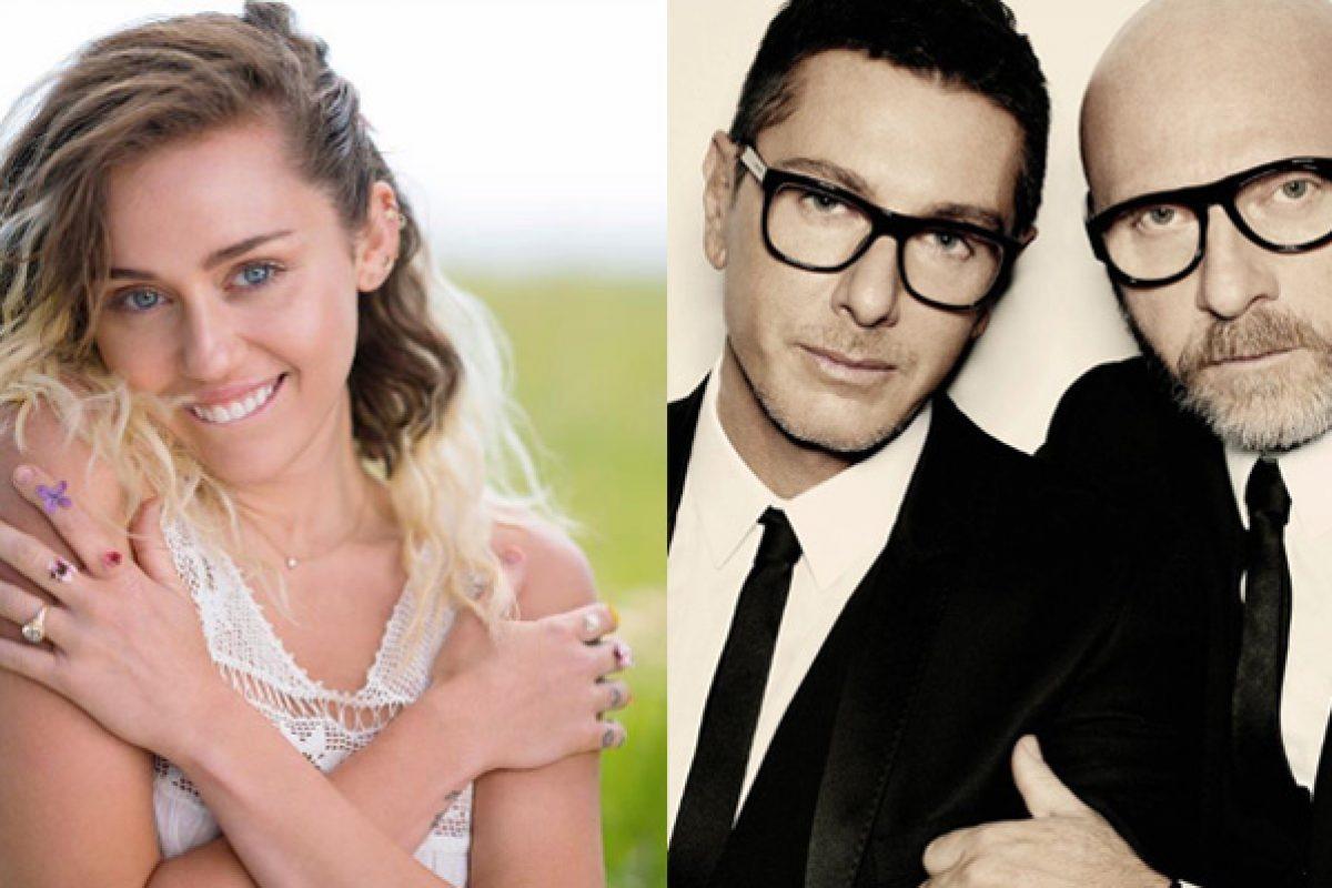 La pelea menos pensada: Miley Cyrus VS Dolce & Gabbana