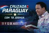 Se viene la Cruzada en Paraguay con TB JOSHUA