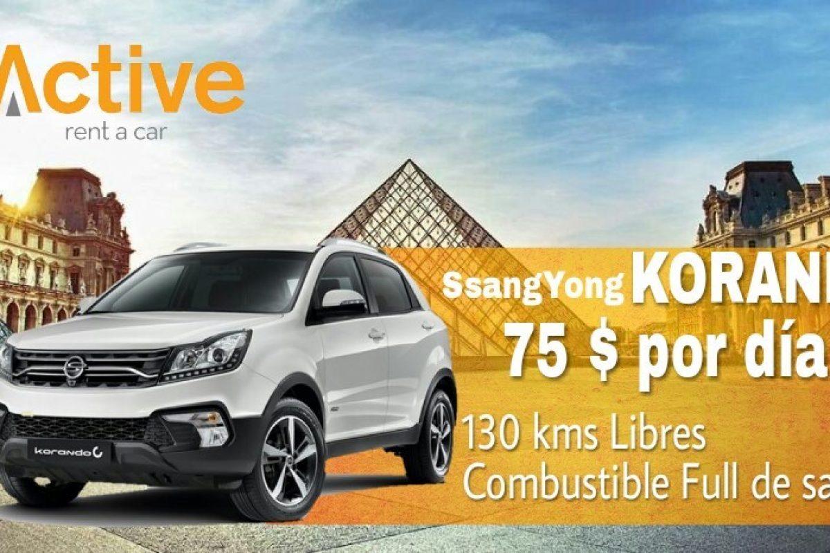 Active Rent a Car presenta nuevos vehículos de las marcas Suzuki, Haima y Ssanhyong
